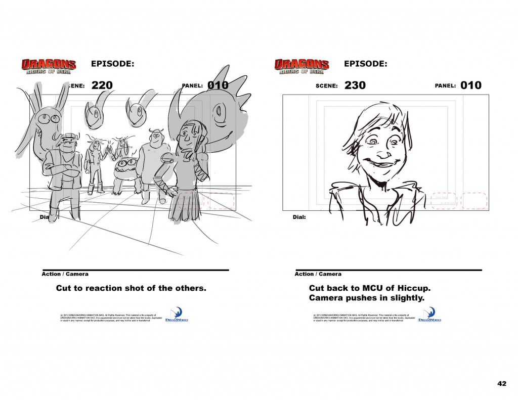 how to train your dragon storyboards